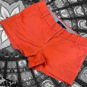 🖤 J. crew orange chino shorts